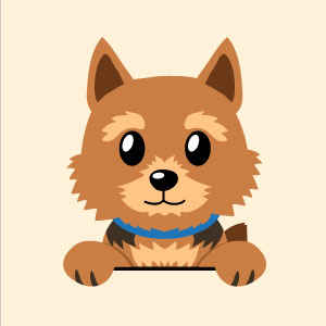 Brown dog illustration