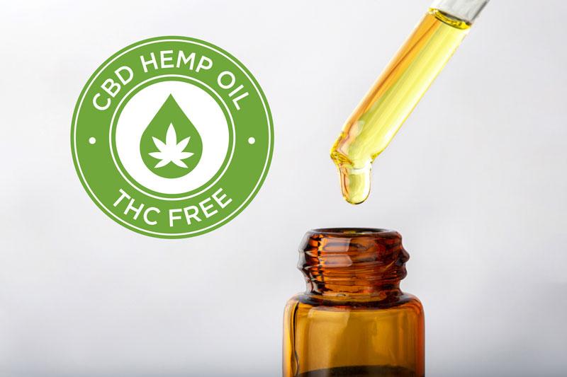 Bottle of CBD Hemp Oil - THC Free