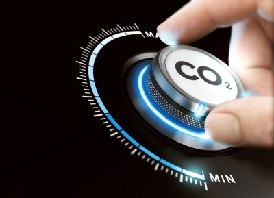 turning a carbon dioxide knob